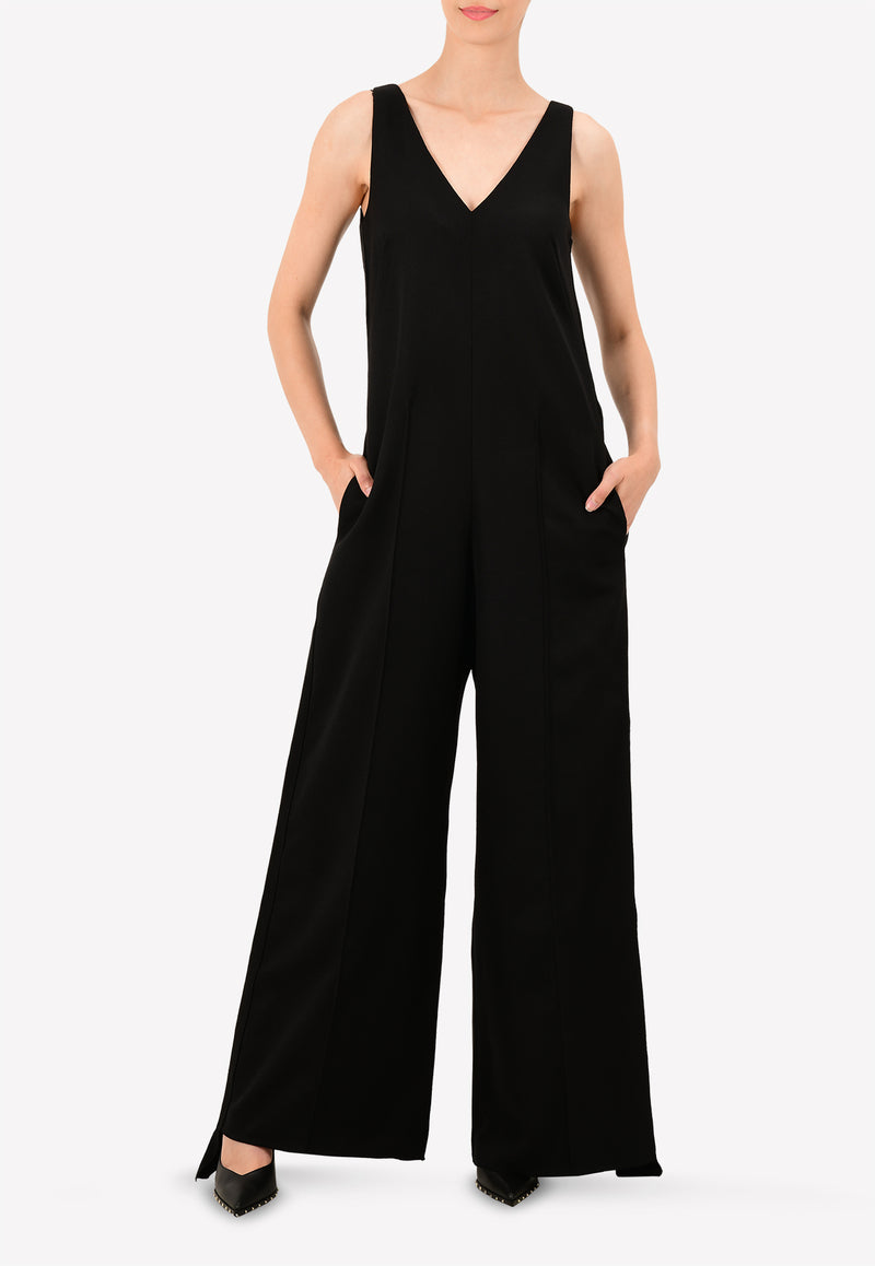 WIDE-LEG GAIA OVERALLS WITH SIDE STRIP