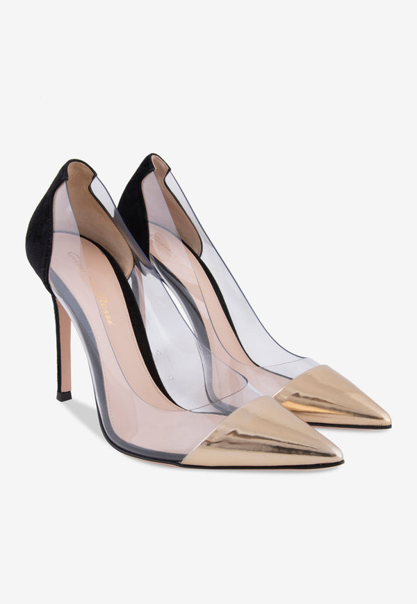 Plexi 105 Suede Pumps with Metallic Front