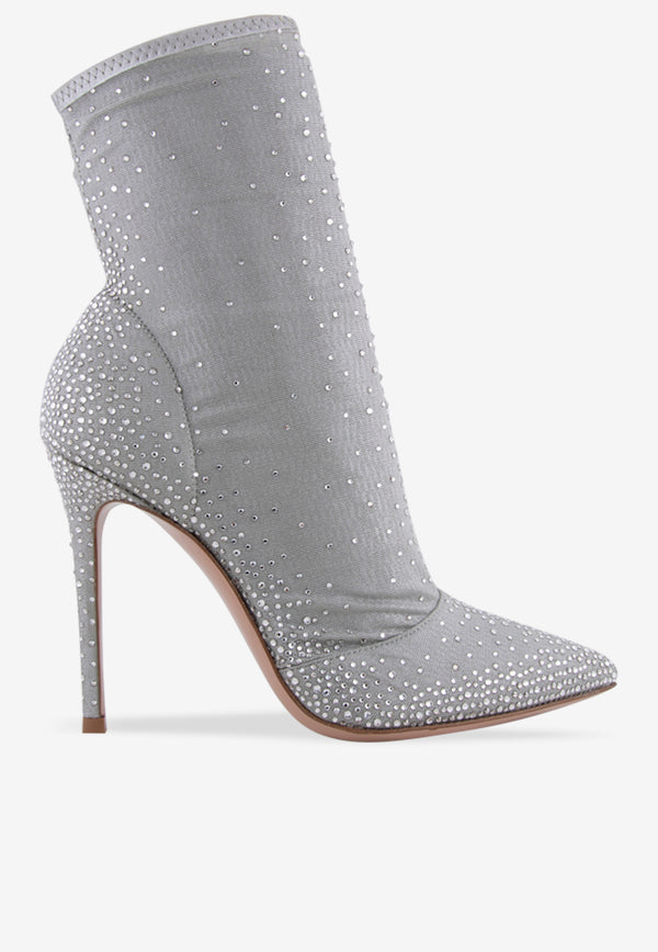 Aurora 105 Tulle Sock Boots with Crystal Embellishments