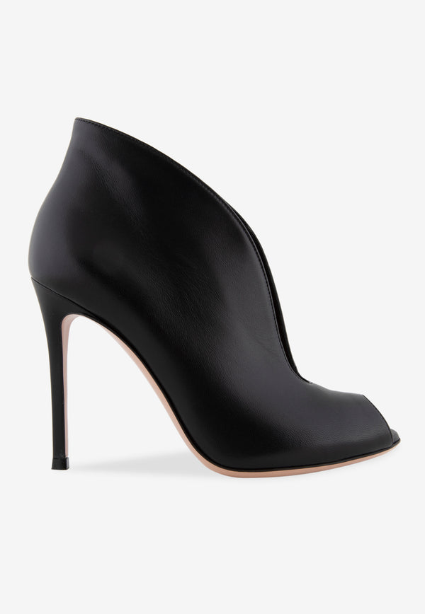Vamp 105 Calf Leather Peep-Toe Ankle Boots