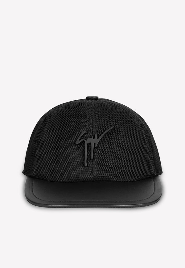 Cohen Baseball Cap in Leather and Mesh