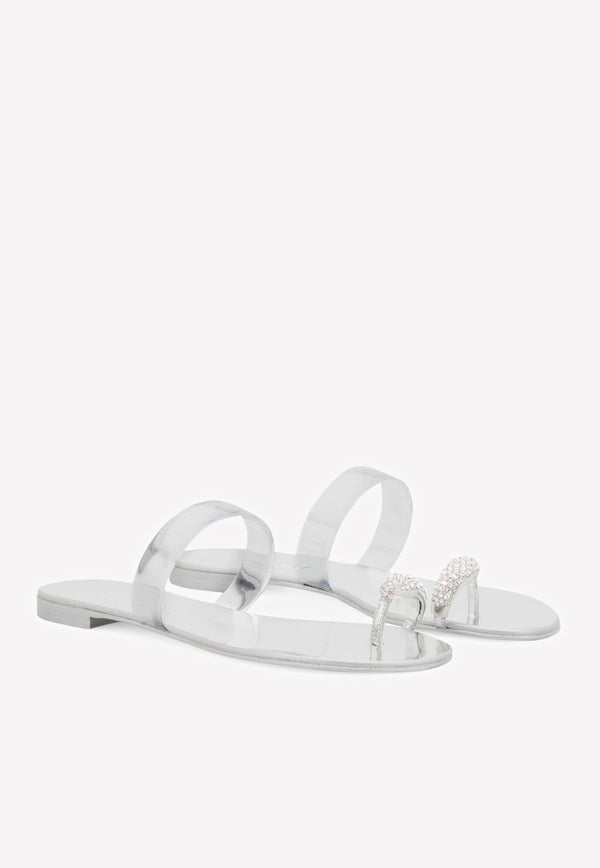 Sandals Ring Ring Ring Sandls على Mirrored Leather