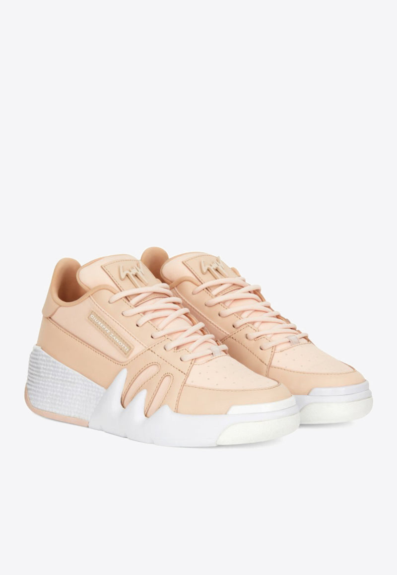 Talon Sneakers in Calf Leather and Fabric