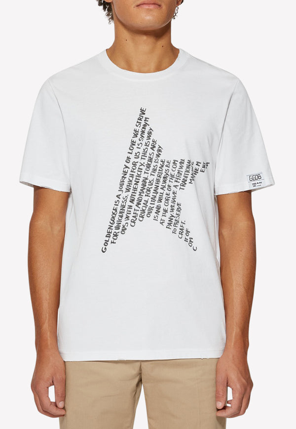 Adamo Star Print Cotton T-shirt