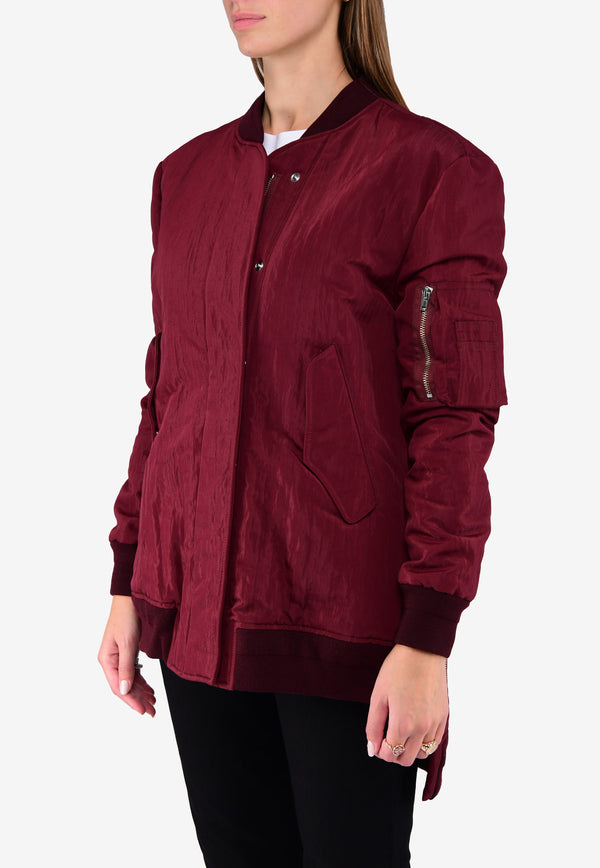 OVERSIZED HIGH-LOW JONI BOMBER JACKET
