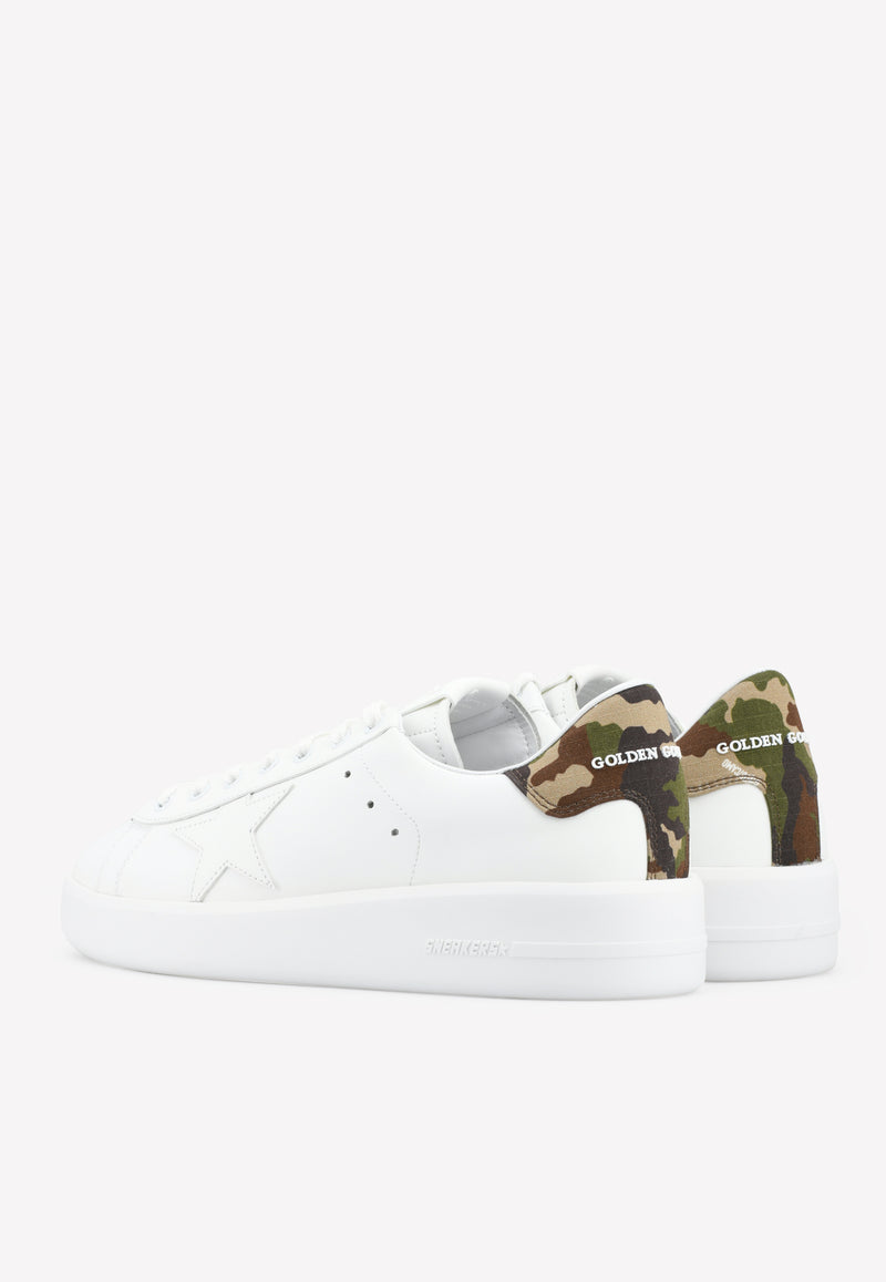Purestar Leather Sneakers with Camouflage Heel