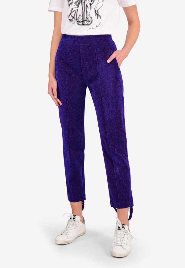 Lurex Dele Stirrup Track Pants