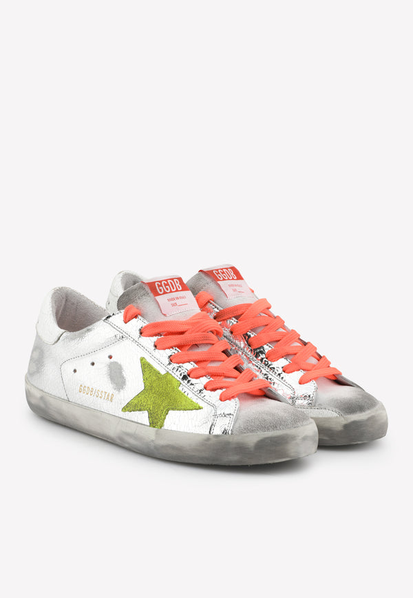 Superstar Metallic Laminated Leather Sneakers