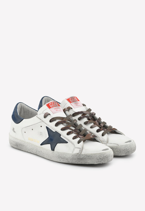 Superstar Leather Sneakers with Nubuck Star