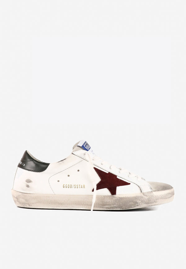 Superstar Leather Sneakers with Suede Toe and Star