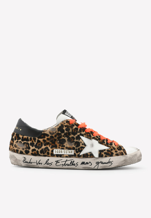 Superstar Leopard-Print Leather-Ponyhair Sneakers