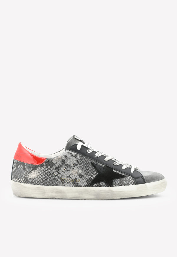 Superstar Classic Python Print Leather Sneakers