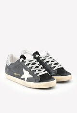 Superstar Suede Sneakers with Glittery Toe