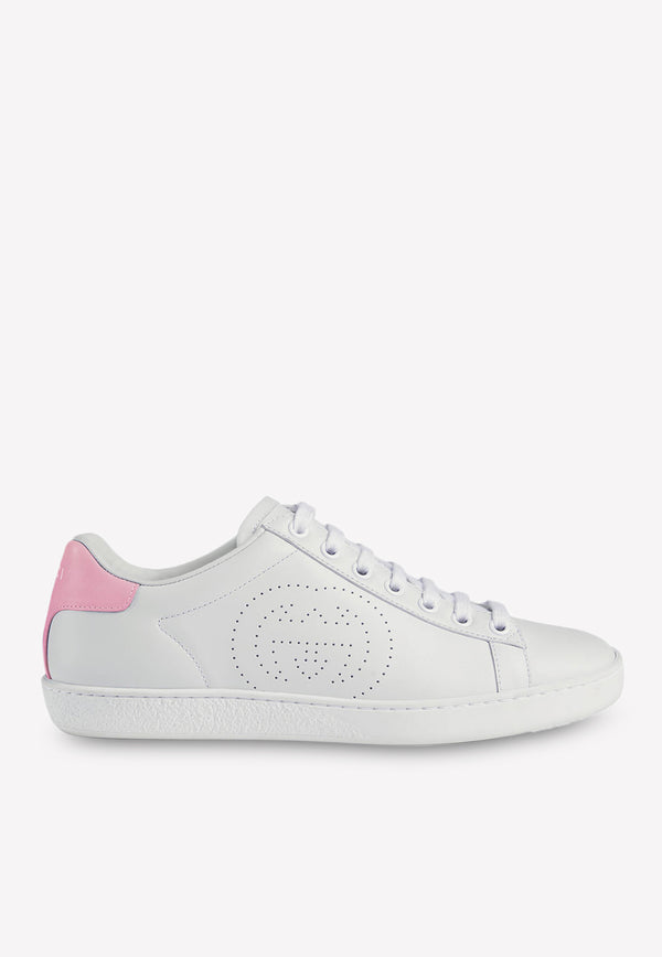 Ace Leather Sneakers with Perforated Detail