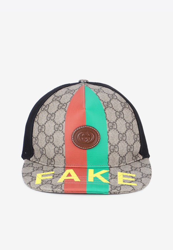 'Fake/Not' Baseball Cap in Canvas