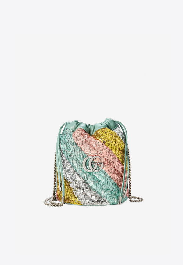 Mini GG Marmont Sequined Bucket Bag