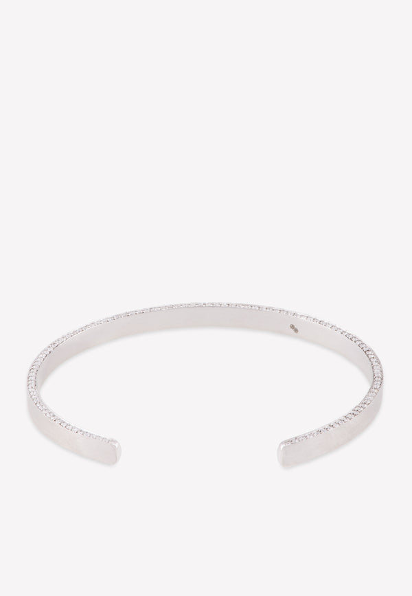 Special Order: 18k White Gold Matte Bracelet with 0.992 cts Diamonds