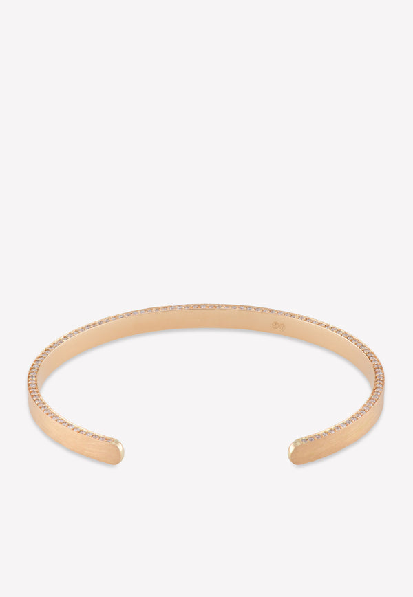 18k Yellow Gold Matte Bracelet with 0.992 cts Diamonds
