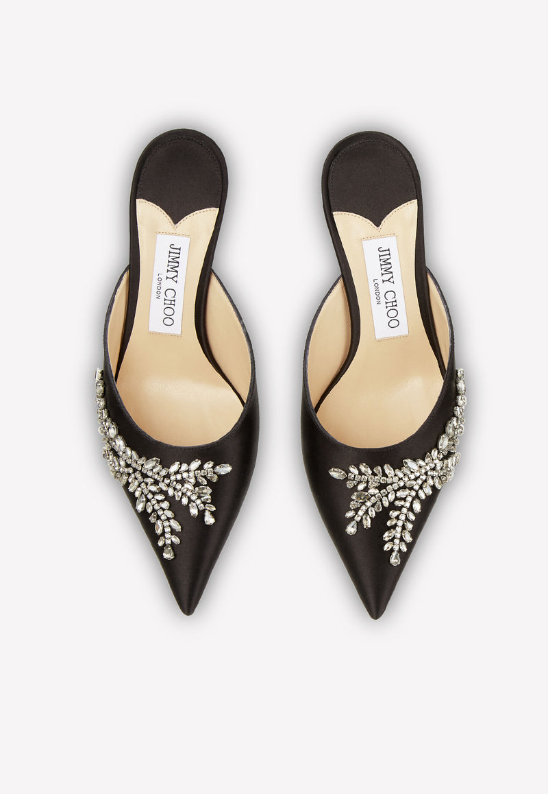 Rav 65 Crystal-Embellished Mules in Satin