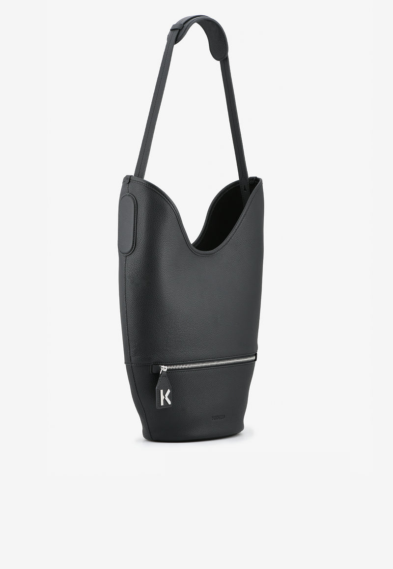 Medium Onda Bucket Bag in Cow Leather