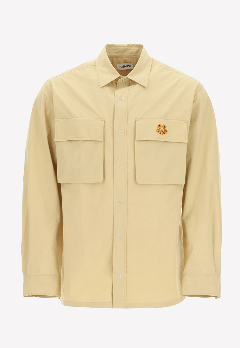 Tiger Crest Cotton Overshirt