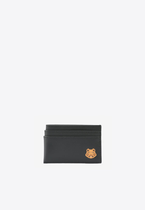 Tiger Crest Cardholder in Cow Leather