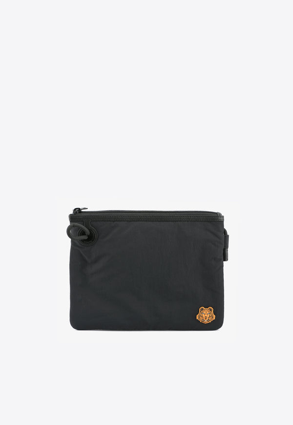 Tiger Crest Nylon Clutch Bag