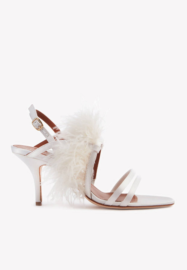 Sonia 70 Feather Embellished Sandals-E