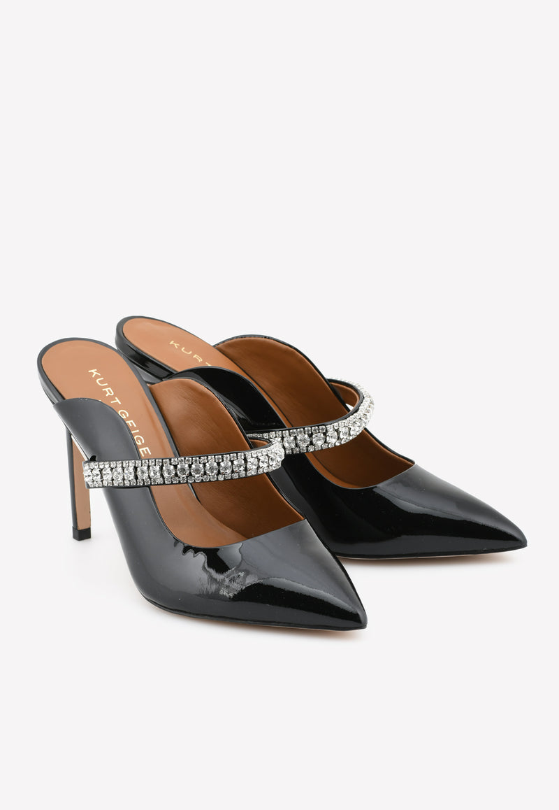 Duke 100 Crystal Mules in Patent Leather