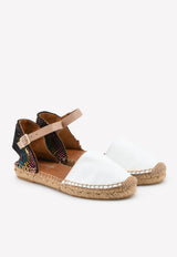 Manty Rainbow Platform Leather Espadrilles