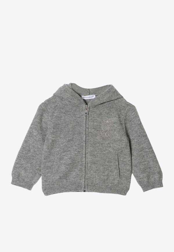 Baby Boys Cashmere Sweatshirt with Logo