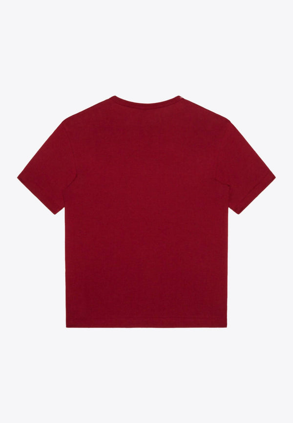 Boys Cotton T-shirt with Heraldic DG Patch