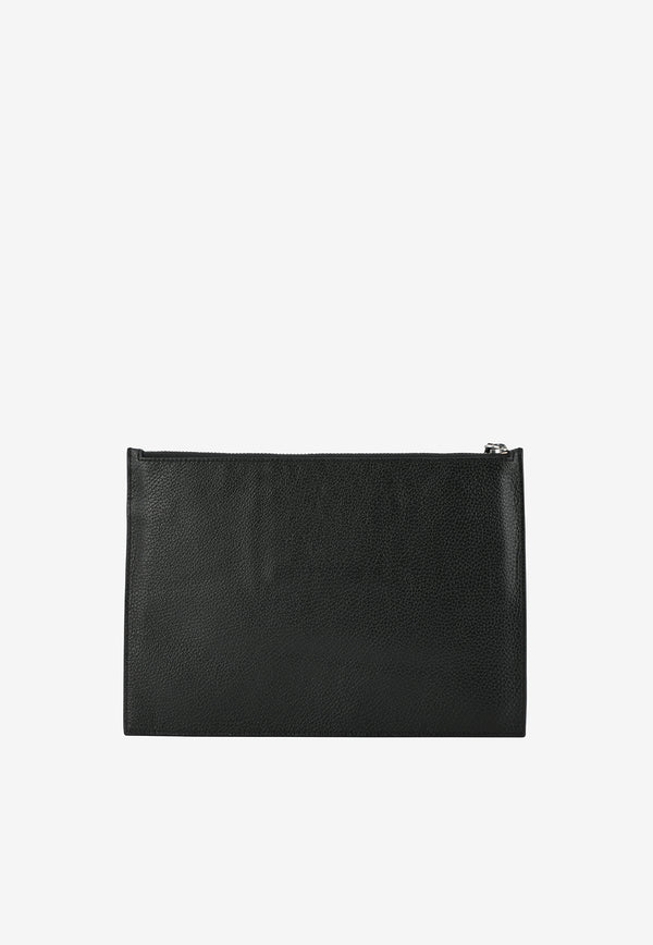 Large KENZO Imprint Pouch in Grained Calfskin