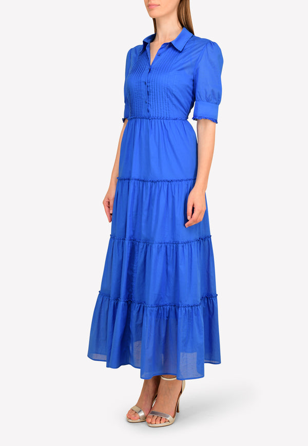 Tiered Maxi Dress with Pintucked Yoke