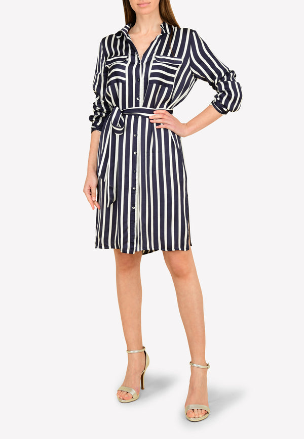 Striped Sleeved Long Blouse