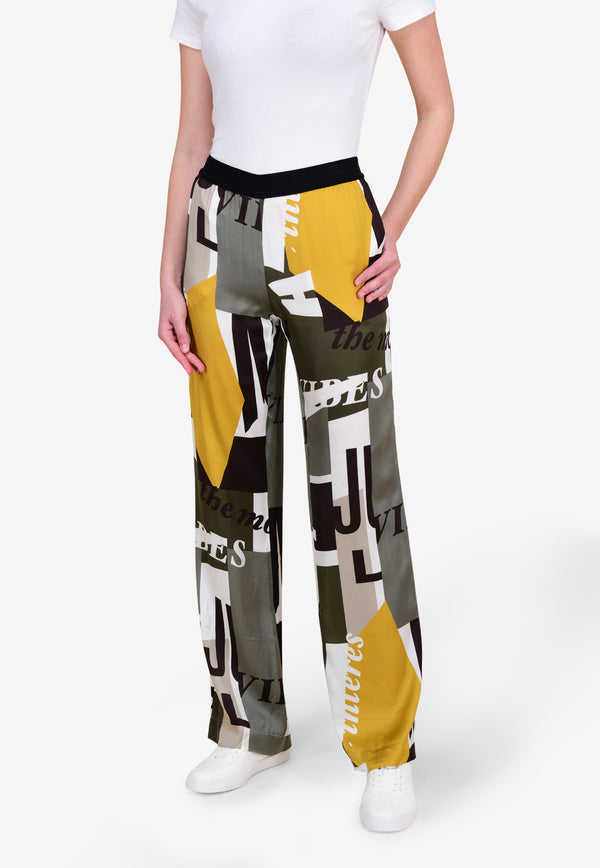 Printed Relaxed-Fit Pants