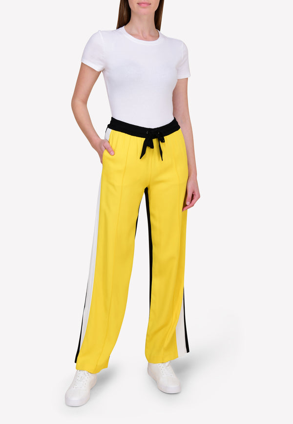 Wide-Leg Pants in Bi-Color