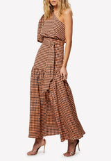 The Checked Out Crepe Maxi Dress