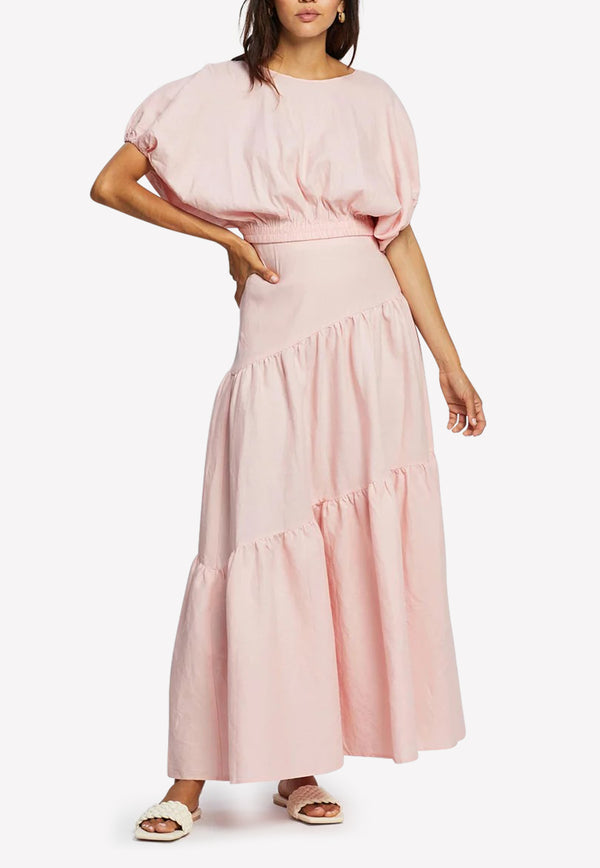 The Day Break Tiered Maxi Skirt