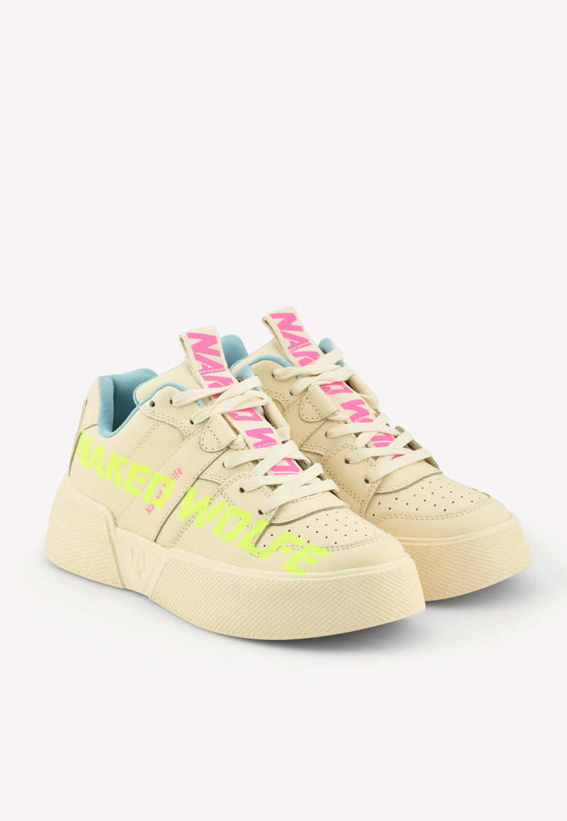 Pixie Graffiti Leather Sneakers