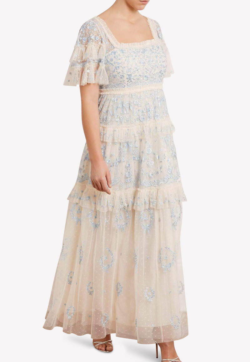 Arwen Embroidered Tulle Gown