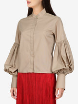 Amada Puffy Cotton Shirt with Balloon Sleeves