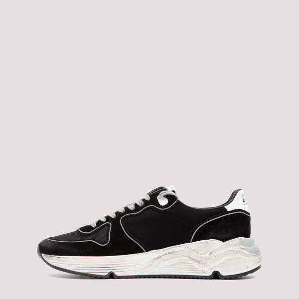 Running Sole Sneakers in Leather Blend