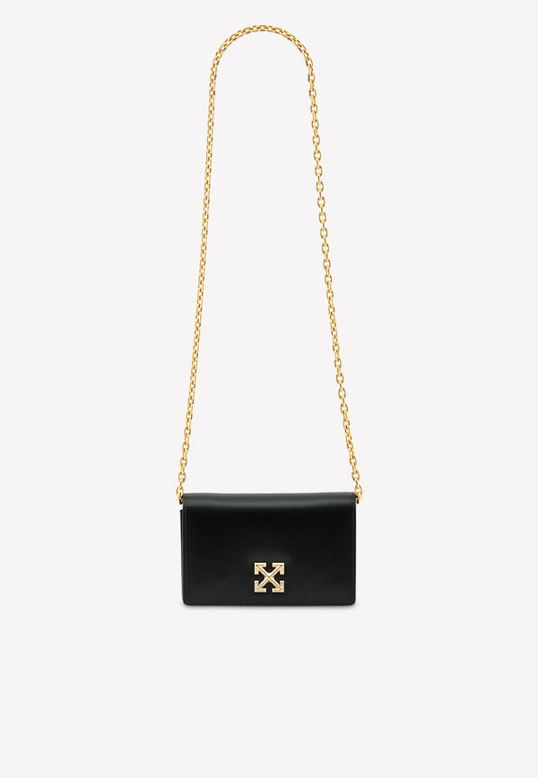 0.5 Twist Jitney Chain Shoulder Bag in Leather