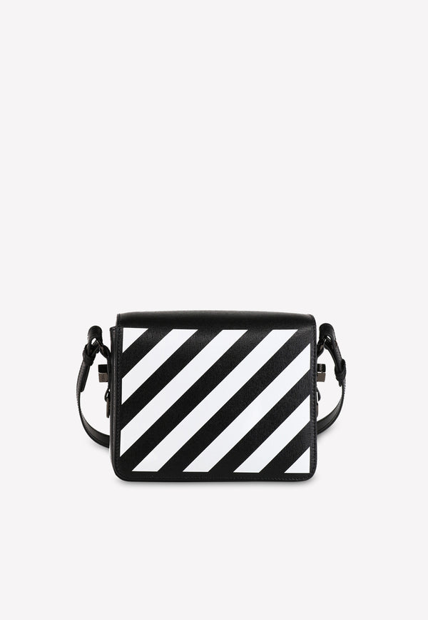 Diag Leather Flap Crossbody Bag