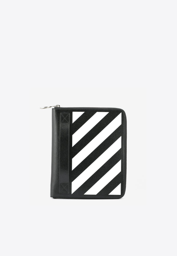 Diag Organizer Leather Clutch