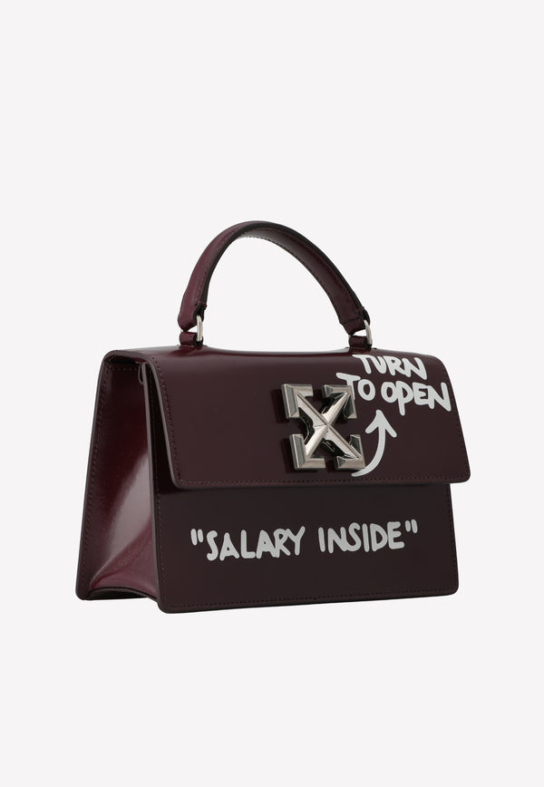 Jitney 1.4 Graffiti Leather Handbag