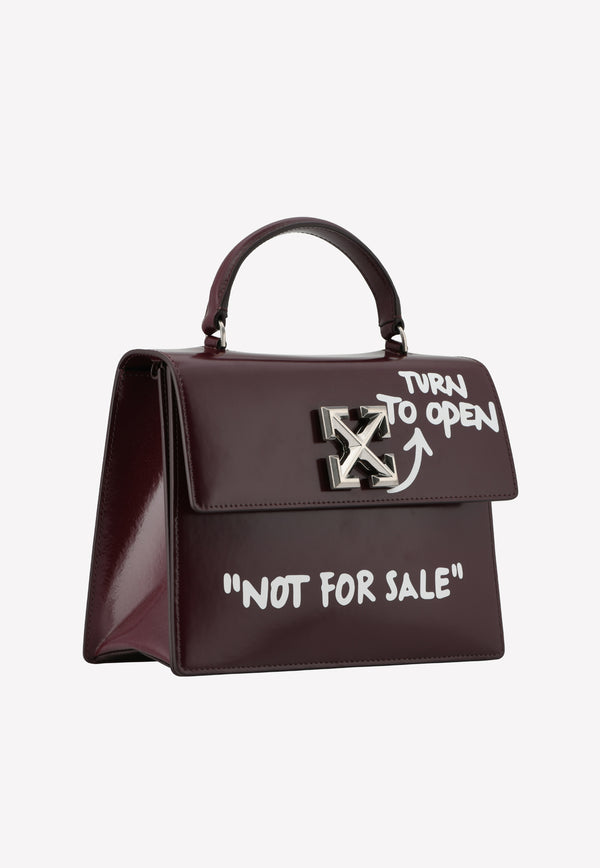 Jitney 2.8 Graffiti Leather Tote Bag