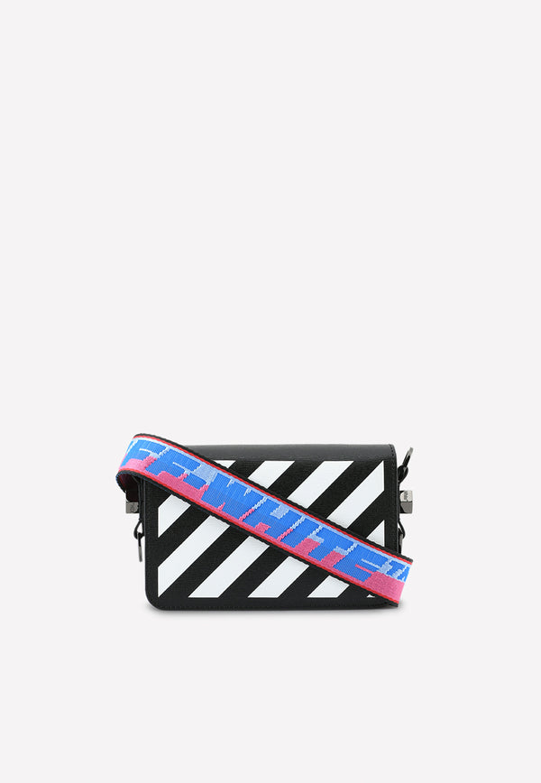 Mini Diag Flap Crossbody Bag in Leather