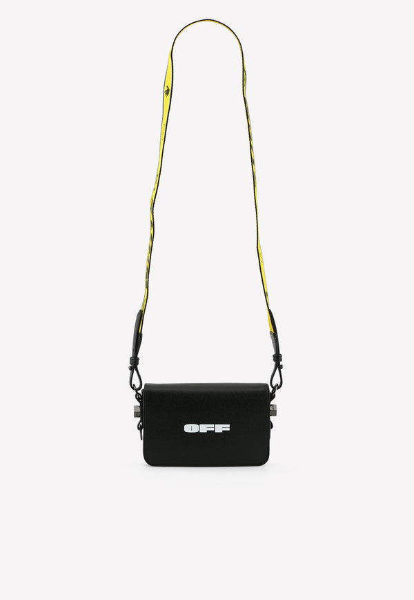 Mini Logo Flap Crossbody Bag in Leather